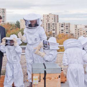 inauguration des ruches connectées