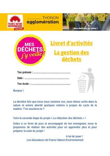 Livret d'activités pour les établissements Thonon agglomération hors Thonon