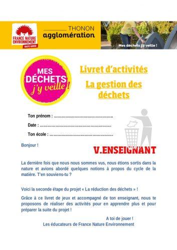 Livret d'activités correction pour les établissements Thonon agglomération hors Thonon