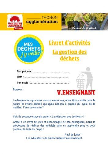 Livret d'activités correction pour les établissements de Thonon-Les-Bains