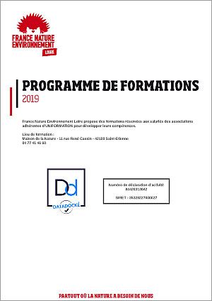 Programme de formations 2019 FNE Loire