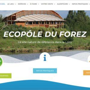 site web de l'Ecopôle du Forez