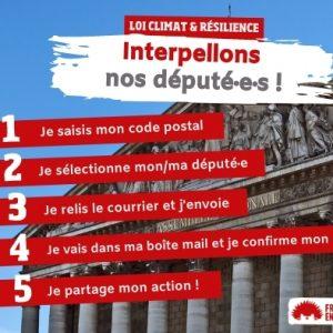 Loi Climat et Résilience - Interpellez vos députés